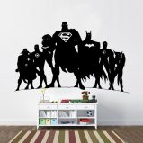 JLA Justice League Inspired Silhouette Vinyl Wall Decal
