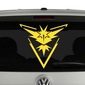 Team Instinct Pokemon Inspired Vinyl Decal Sticker
