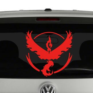 Team Valor Pokemon Inspired Vinyl Decal Sticker