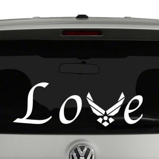 Love with Air Force Logo Vinyl Decal Sticker