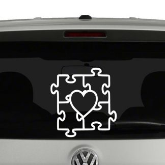 Autism Awareness Heart Puzzle Vinyl Decal Sticker