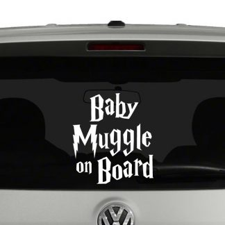 Baby Muggle On Board Harry Potter Inspired Vinyl Decal Sticker