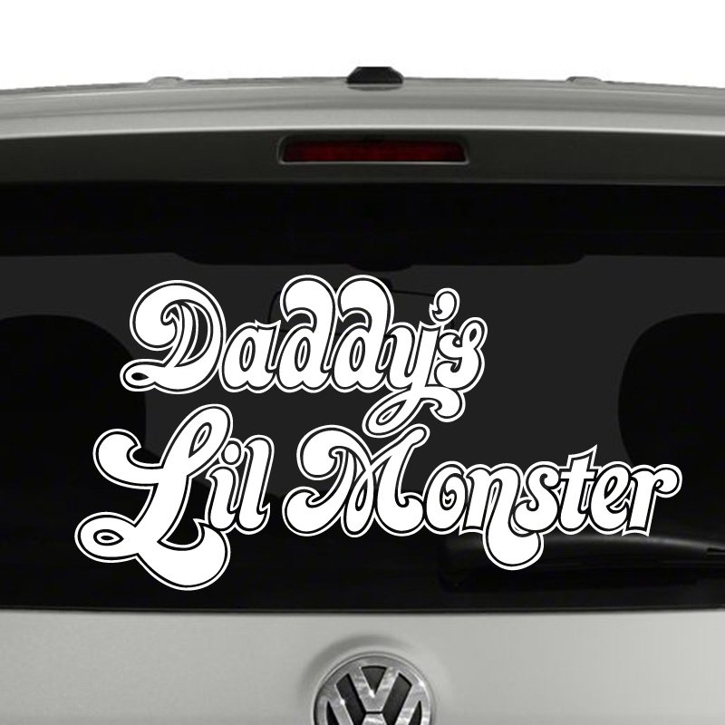 Daddys lil monster harley quinn inspired vinyl decal sticker car