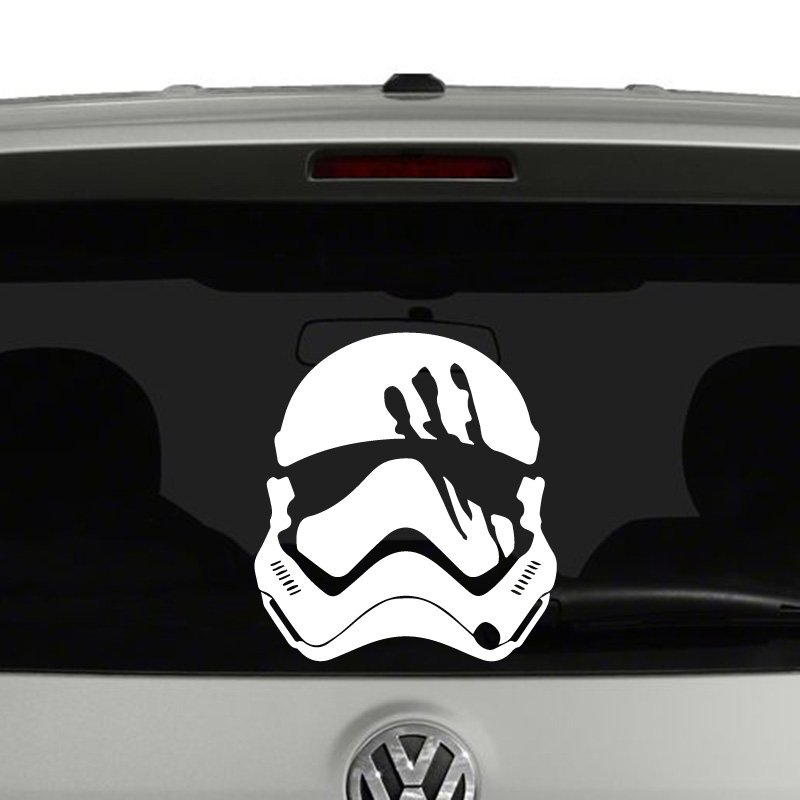 Finn stormtrooper helmet star wars inspired vinyl decal sticker