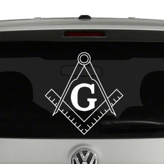 Freemason Emblem Square and Compass Vinyl Decal Sticker