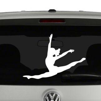 Gymnast Floor Exercise Silhouette Vinyl Decal Sticker
