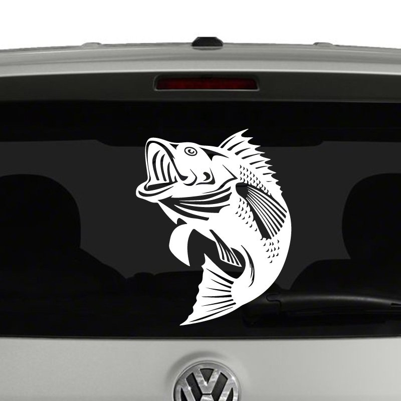 Largemouth Bass Fish Jumping Vinyl Decal Sticker