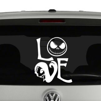 Jack Skellington Sally Love Nightmare Before Christmas Inspired Vinyl Decal Sticker