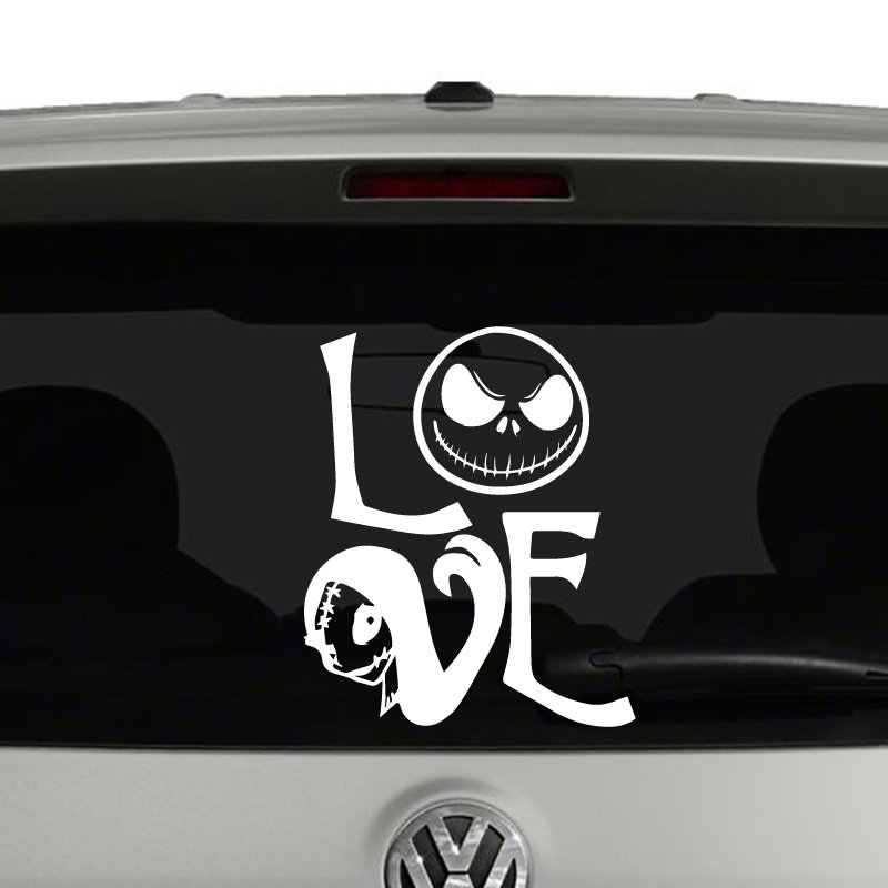 Jack Skellington Sally Love Nightmare Before Christmas Vinyl Decal