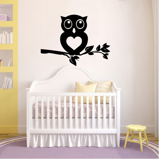 Owl on Branch Vinyl Wall Decal