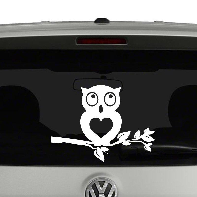 Owl On Branch Die Cut Vinyl Decal Sticker - Owl custom vinyl decals for car