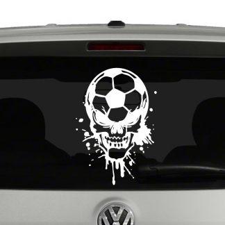Soccer Ball Skull Vinyl Decal Sticker