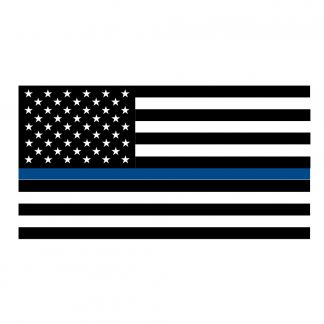Thin Blue Line Flag Vinyl Decal Sticker