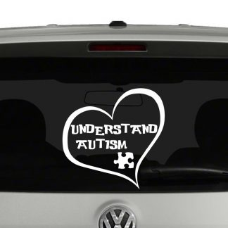 Understand Autism Heart Vinyl Decal Sticker