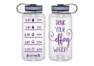 34oz Drink Effing water Bottle