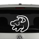 Baby SImba Lion King Inspired Vinyl Decal Sticker