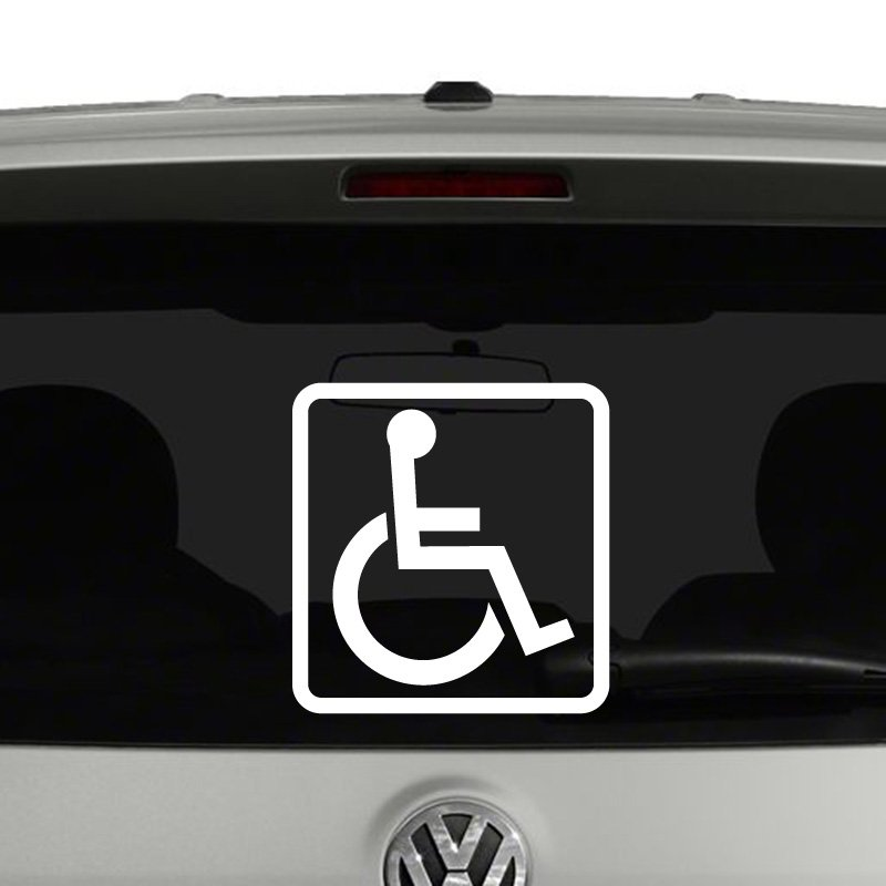 Handicap Wheelchair Vinyl Decal Sticker