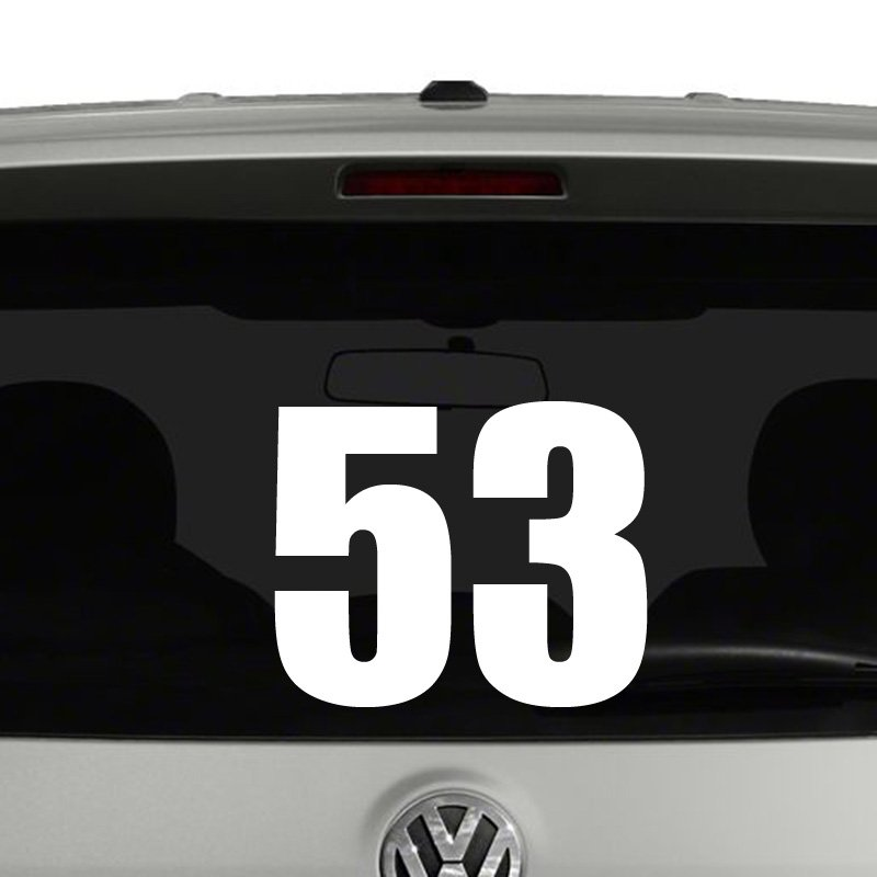 Numbers racing style motorcross bike plate jersey 2 digit vinyl decal sticker