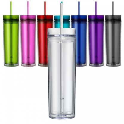 16oz Skinny Tumbler with Custom Vinyl Decal