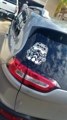 Sugar Skull Style Stormtrooper Star Wars Inspired Vinyl Decal Sticker