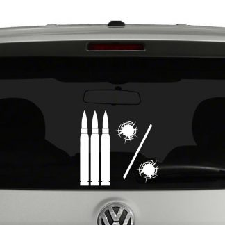 3 Percent Bullets Vinyl Decal Sticker Molon Labe 2nd Amendement
