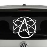 Atheist Atom Symbol Vinyl Decal Sticker