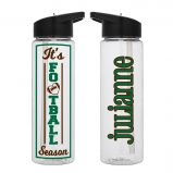 Its Football Season - Custom Name Water Bottle 24 Oz
