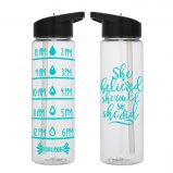 Water Tracker - Just Breathe and Drink Meditating Figure Water Bottle 24 Oz