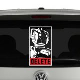 Cyberman Delete Doctor Who Inspired Vinyl Decal Sticker