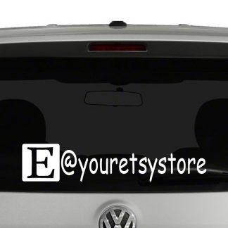 Etsy Icon Account Tag Vinyl Decal Sticker Social Media