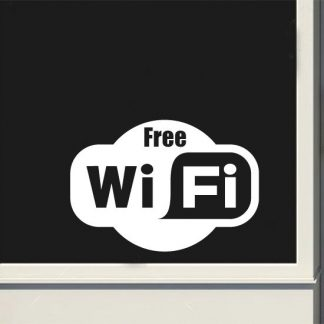 Free Wi Fi Vinyl Decal Sticker Business Windows