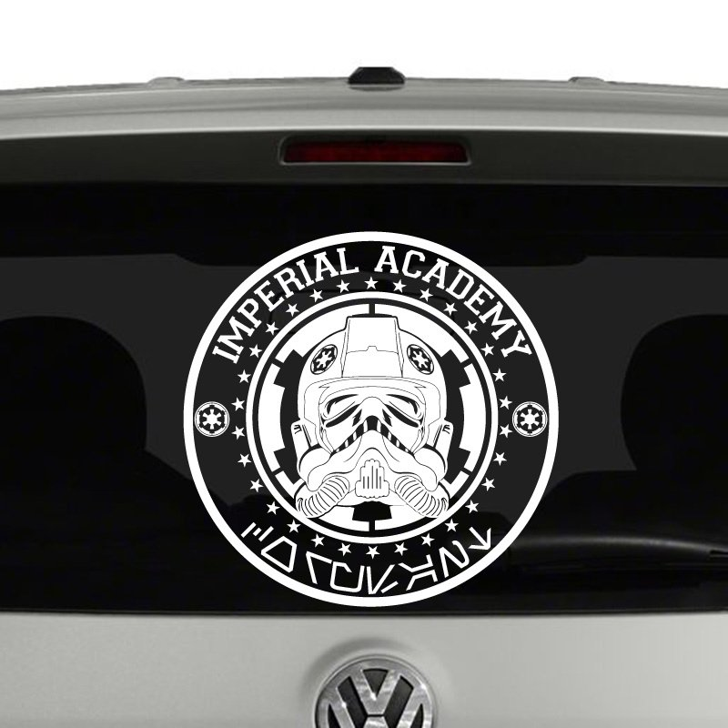 imperial academy coruscant star wars inspired vinyl decal. Black Bedroom Furniture Sets. Home Design Ideas
