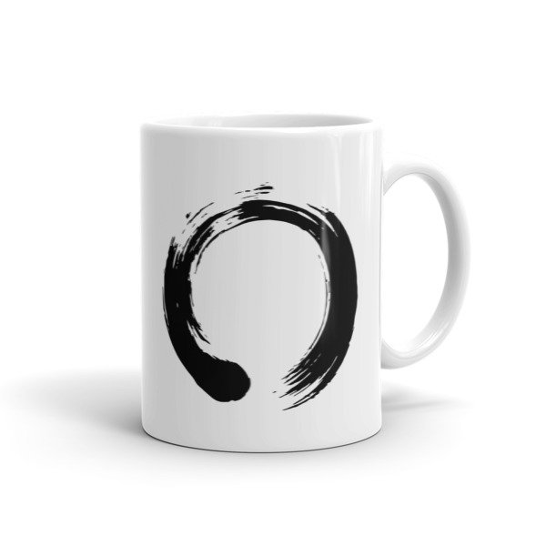 Enso Circle Brushstroke Buddhism Ceramic Mug