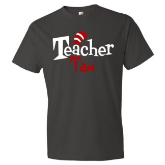 Teacher I Am Dr Seuss Inspired Short Sleeve T-Shirt