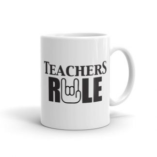 Teachers Run Rock On Hand Ceramic Mug