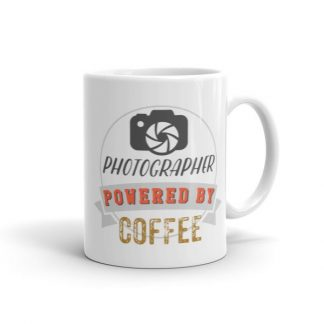 Photographer Powered By Coffee Vintage Logo Mug