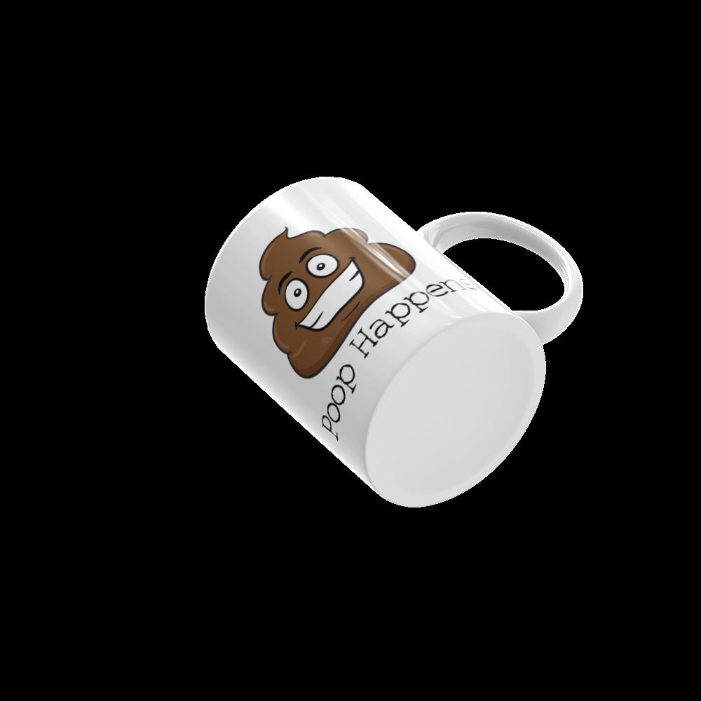 Poop Happens Poop Emoji Ceramic Mug Cosmic Frogs Vinyl