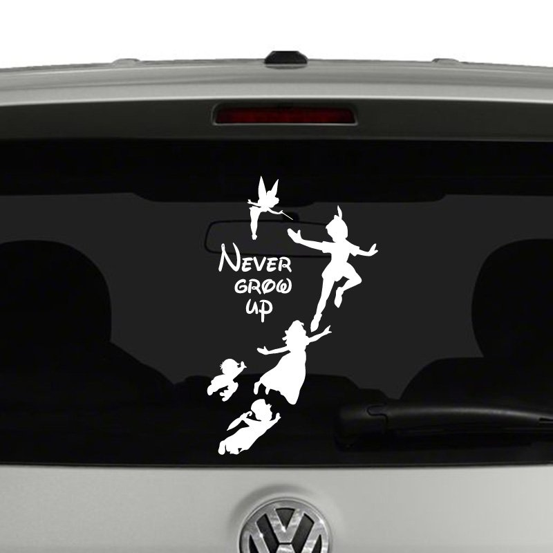 Peter Pan Never Grow Up Disney Inspired Vinyl Decal Sticker