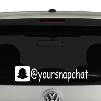 Snapchat Icon Account Tag Vinyl Decal Sticker Social Media