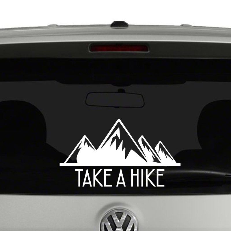Take A Hike Mountains Retro Vinyl Decal Sticker
