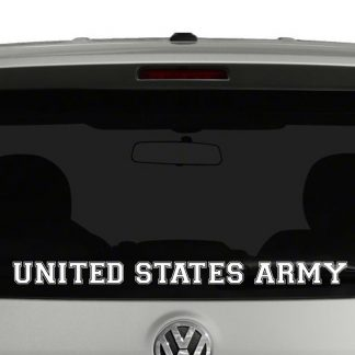 United States Army Varsity Text Vinyl Decal Sticker Car Window