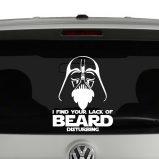 I Find Your Lack Of Beard Disturbing Darth Vader Star Wars Inspired Vinyl Decal Sticker