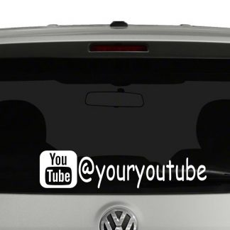 You Tube Icon Account Tag Vinyl Decal Sticker Social Media