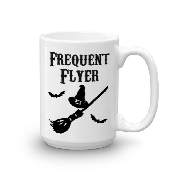 Frequent Flyer Witches Broom Short Sleeve Ceramic Mug