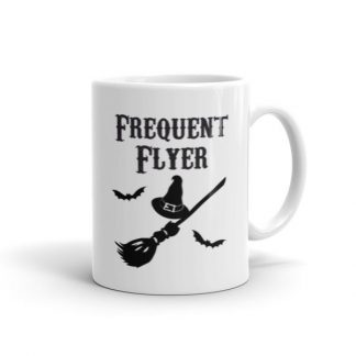 Frequent Flyer Witches Broom Ceramic Mug