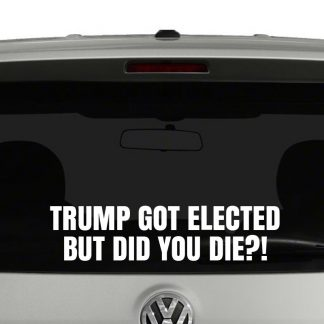 Trump Got Elected But Did You Die?! Vinyl Decal Sticker