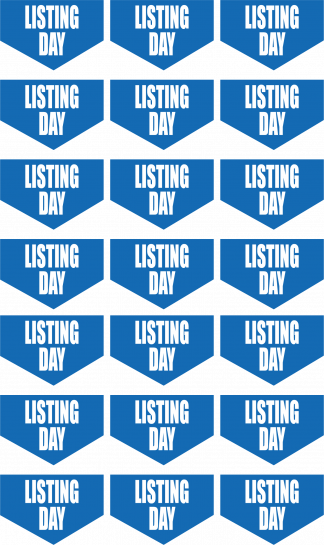 Listing Day Banners Happy Planner Stickers