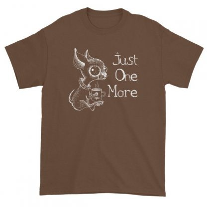 Just One More Caffeinated Coffee Chihuahua Funny T-Shirt