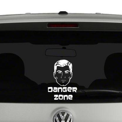 Archer Inspired Danger Zone Vinyl Decal Sticker