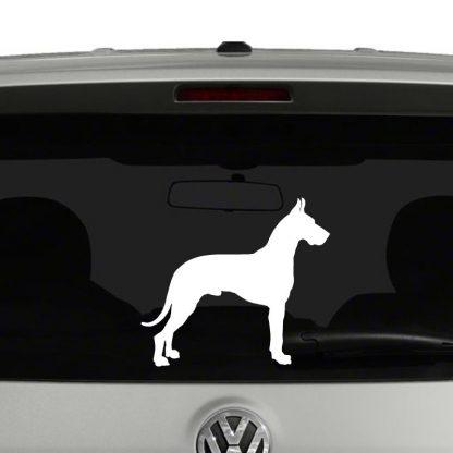 Great Dane Dog Silhouette Vinyl Decal Sticker Car